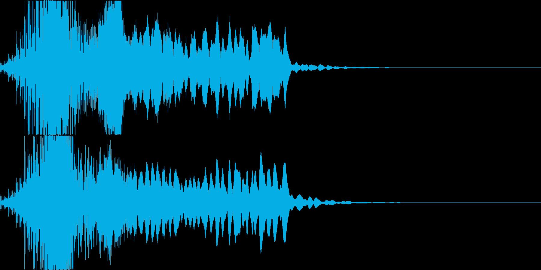 太鼓と尺八のかっこいい和楽器ダラララドンの再生済みの波形