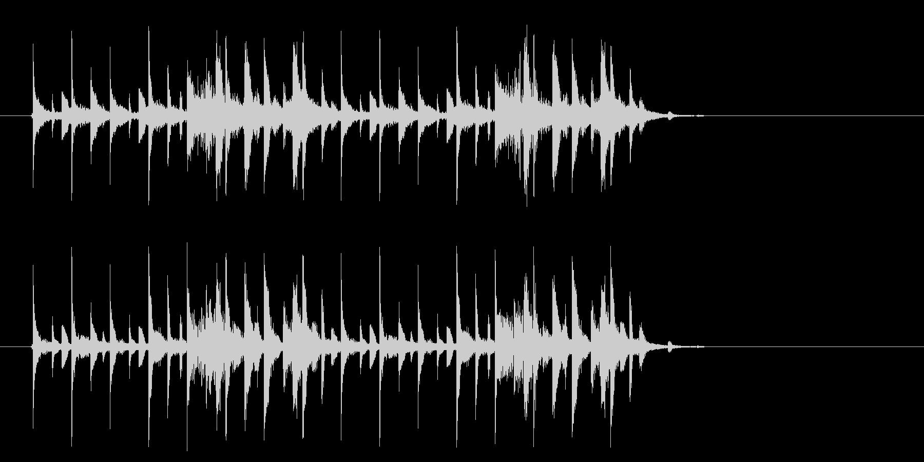 幻想的でテクノポップなミュージックの未再生の波形