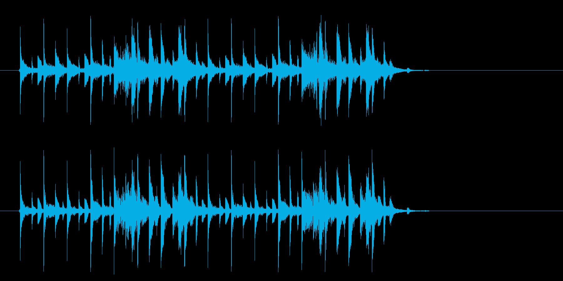 幻想的でテクノポップなミュージックの再生済みの波形