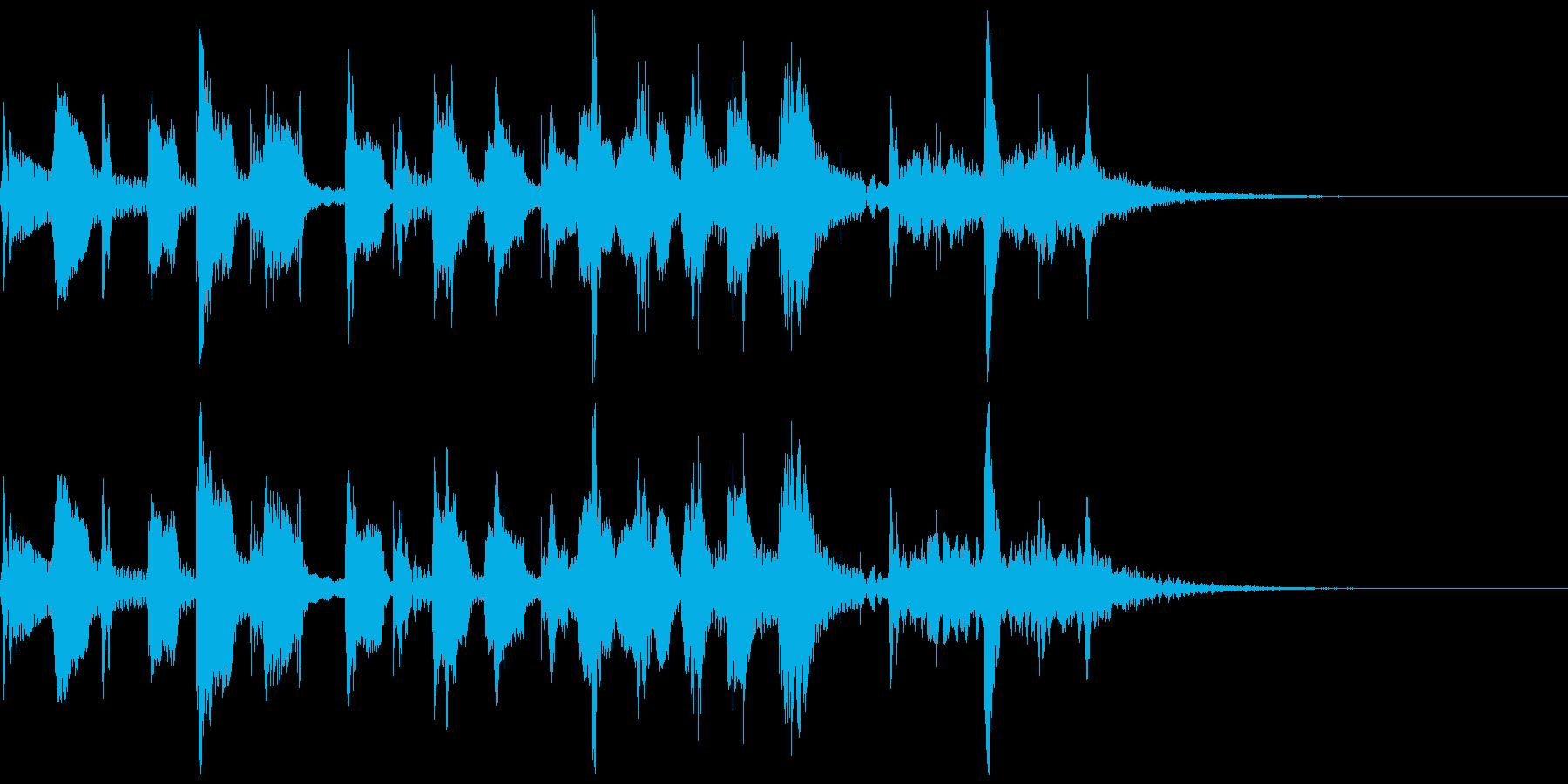 陽気なラテントランペットほのぼのジングルの再生済みの波形