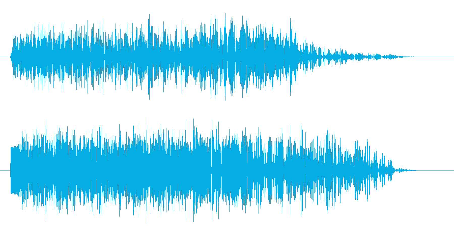 パワーダウン レベルダウン ↓ ドーンの再生済みの波形