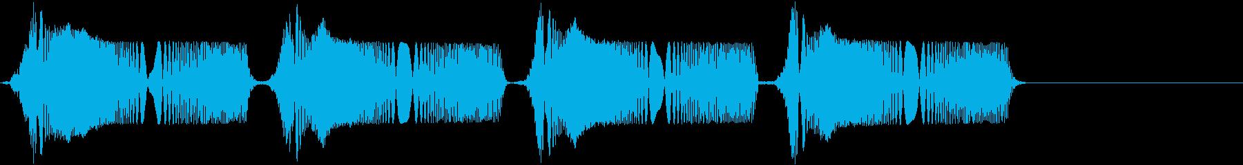 ピュピュ。冷汗・震える音A(短め)の再生済みの波形