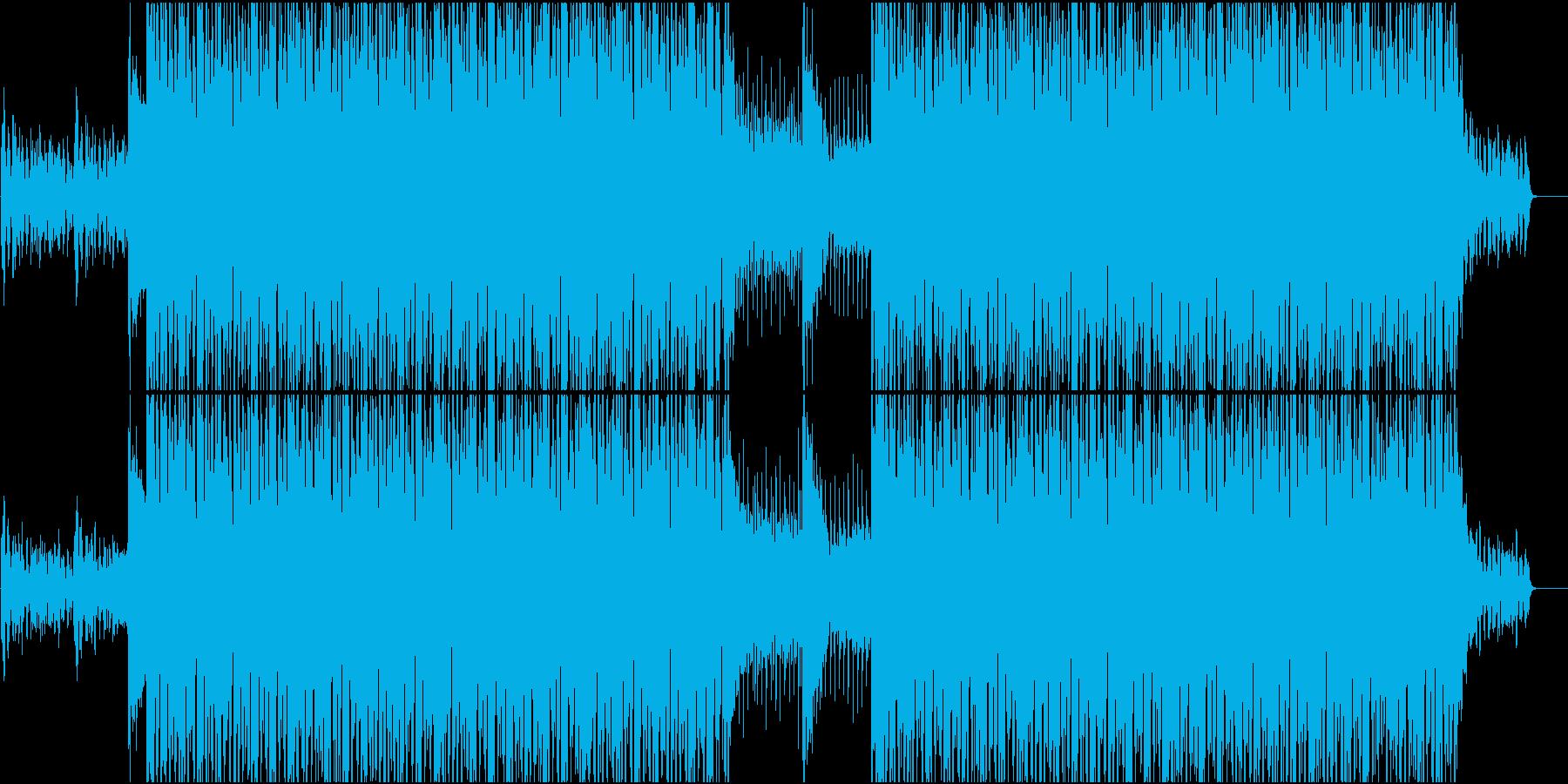 EDM系BGMの再生済みの波形