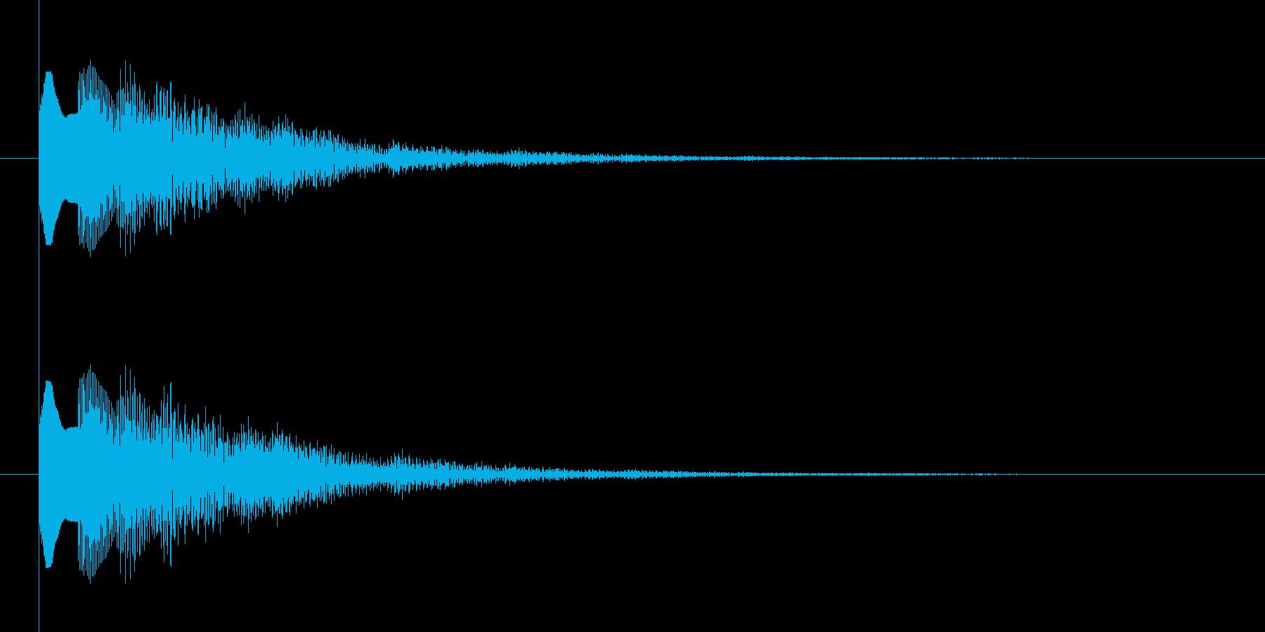 下降系のナチュラル、温かみのある決定音1の再生済みの波形