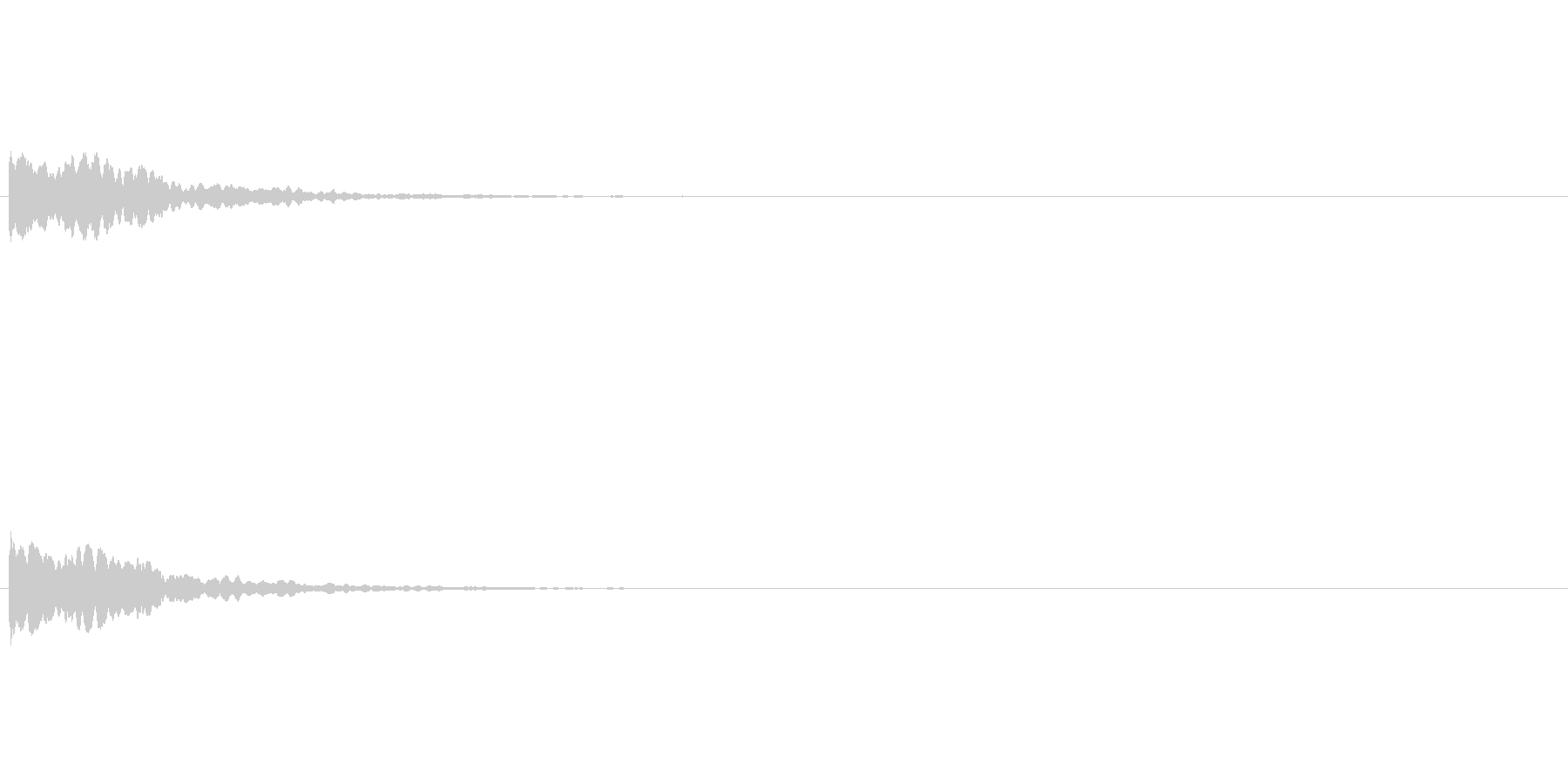 オリジナル効果音キラーンの未再生の波形