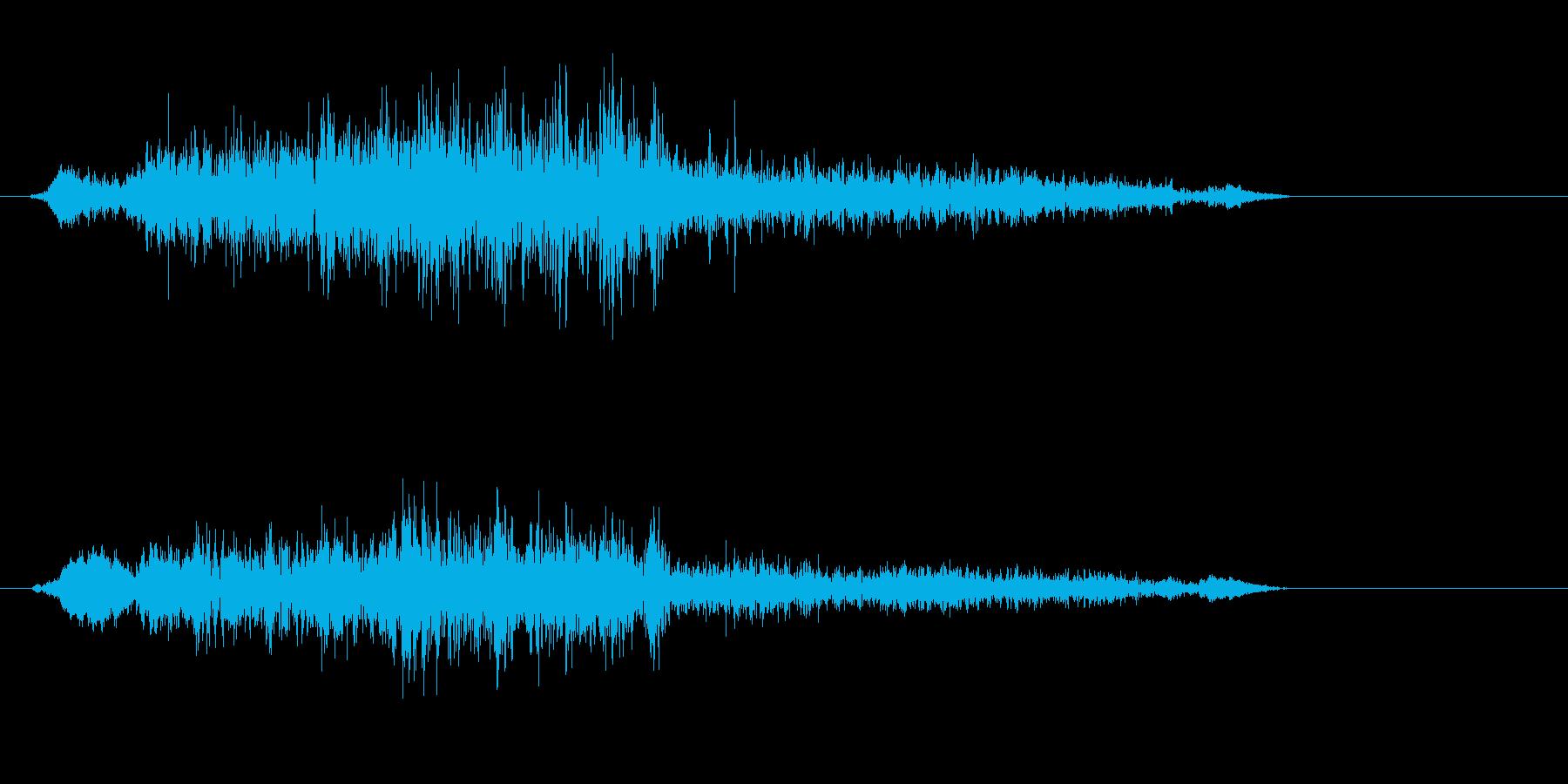 クシュッ(鼻をかむ)の再生済みの波形
