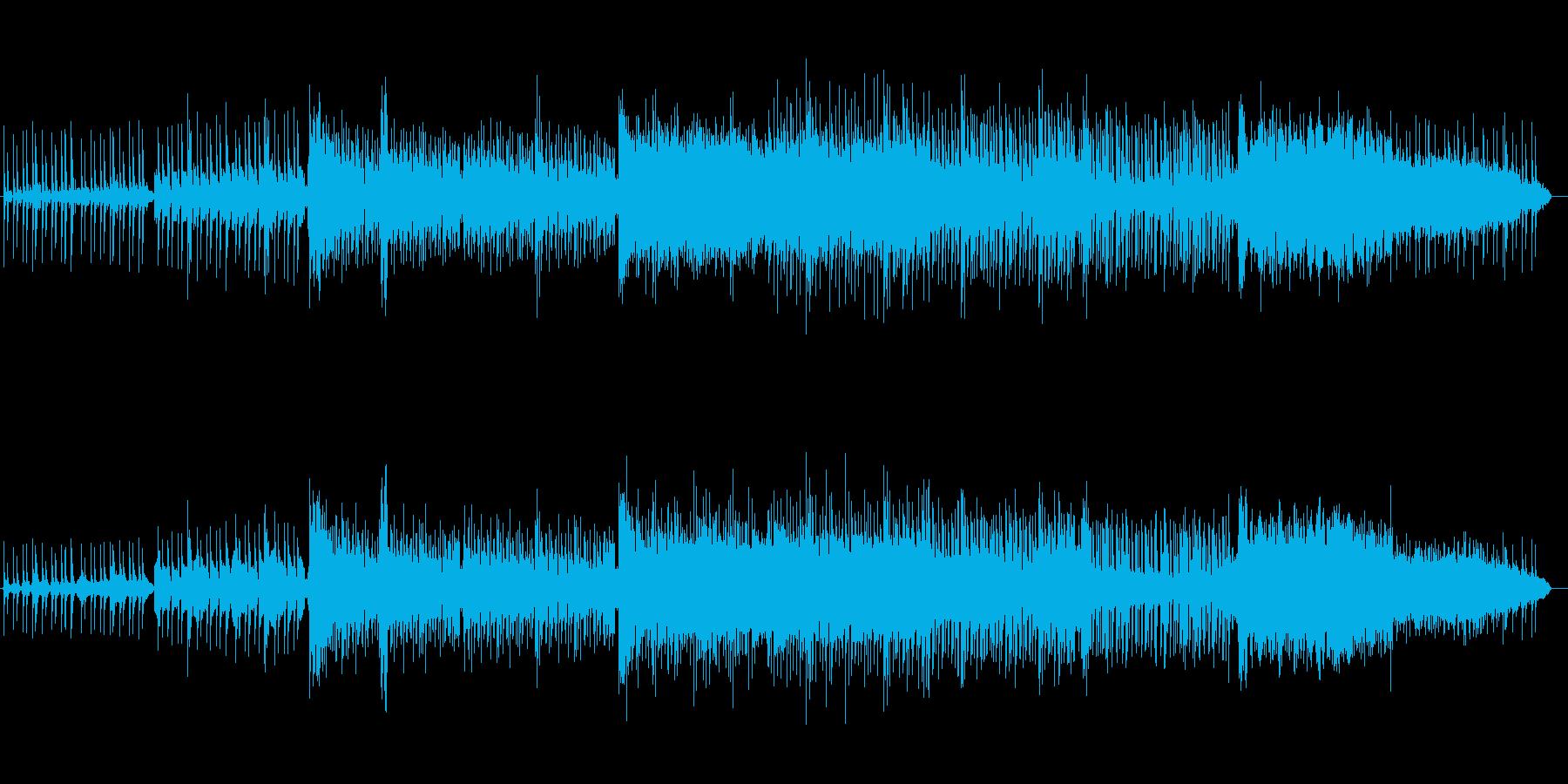 アシッドな雰囲気のシネマティックBGMの再生済みの波形