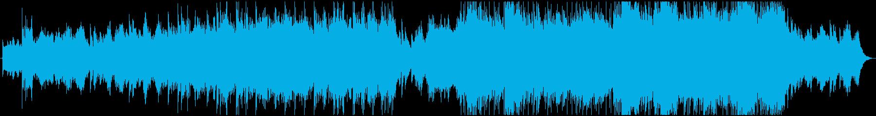 エンディング感のあるエピック系BGMの再生済みの波形