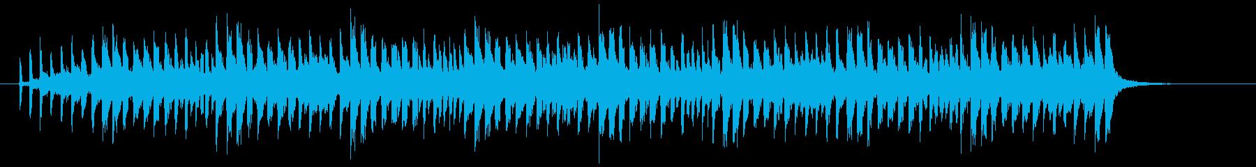 ほのぼのしたテクノポップスのジングルの再生済みの波形