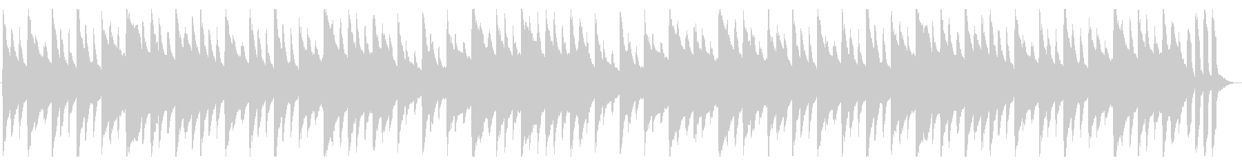 平和な雰囲気のハープシコードの未再生の波形