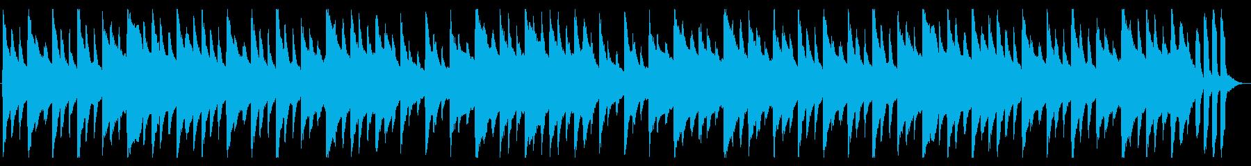 平和な雰囲気のハープシコードの再生済みの波形
