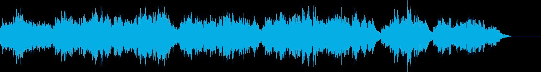 フルートとピアノの優しいBGMの再生済みの波形