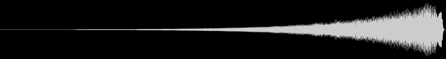 シャープクレッシェンドチャイムの未再生の波形