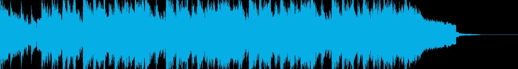 尺八、琴、和風、中華の疾走感の再生済みの波形