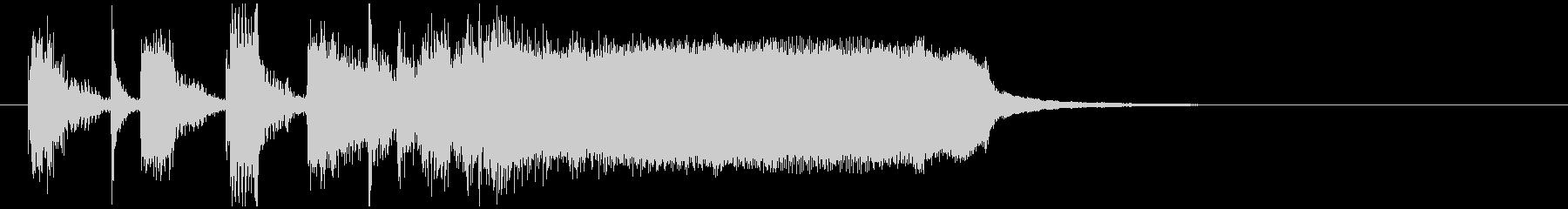 ソリッドなフュージョン系サウンドロゴの未再生の波形