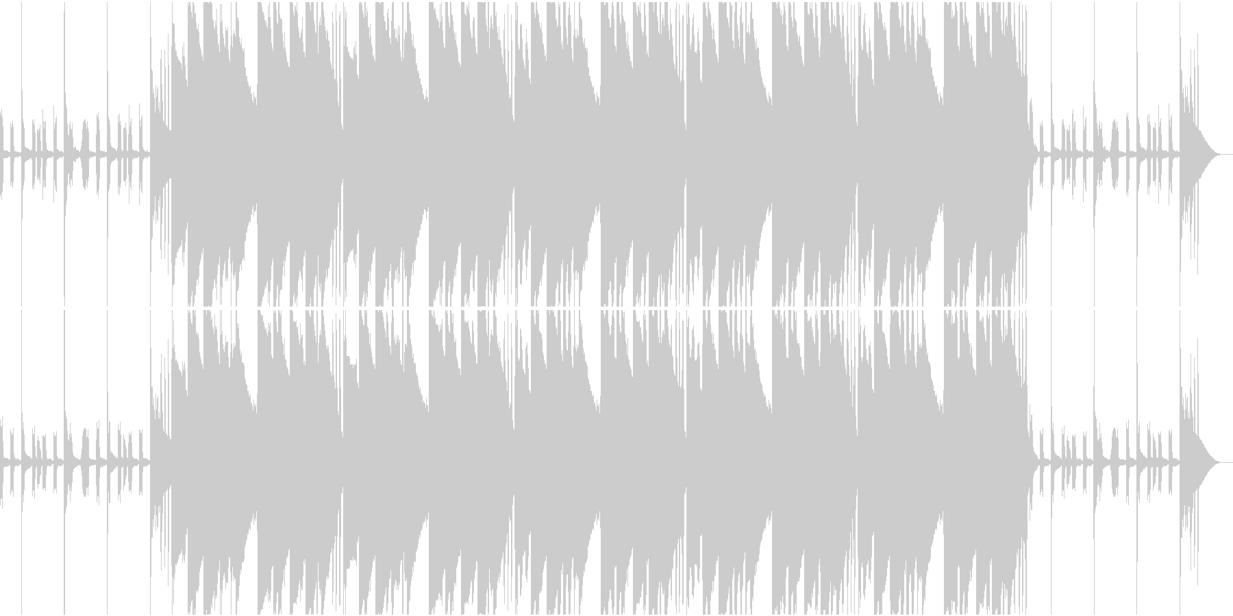 EDM Musicの未再生の波形