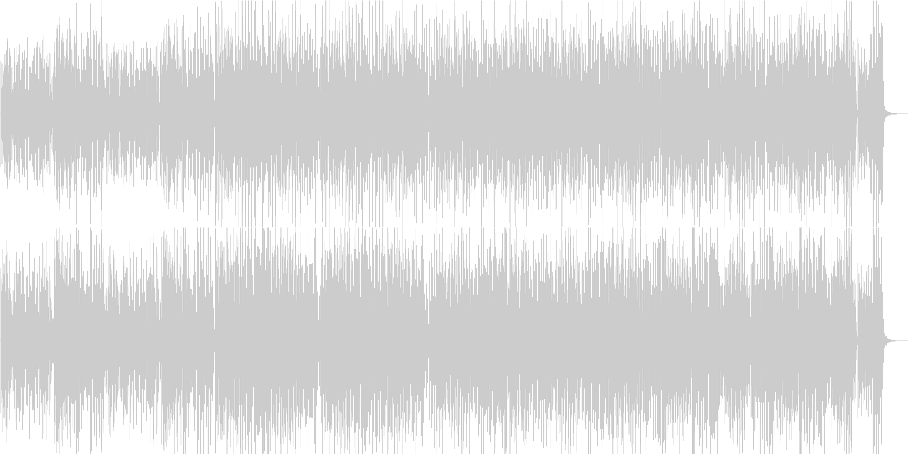 YouTube系ピアノソロ レトロ感 昔の未再生の波形