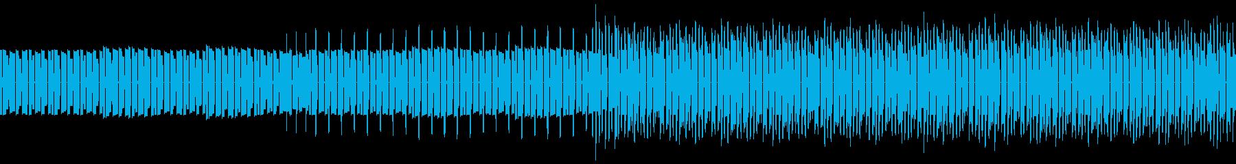 ロックンロールな曲をファミコン音源にての再生済みの波形