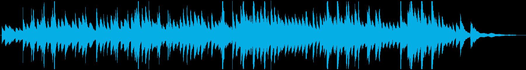 フランス映画のサントラようなピアノ曲の再生済みの波形