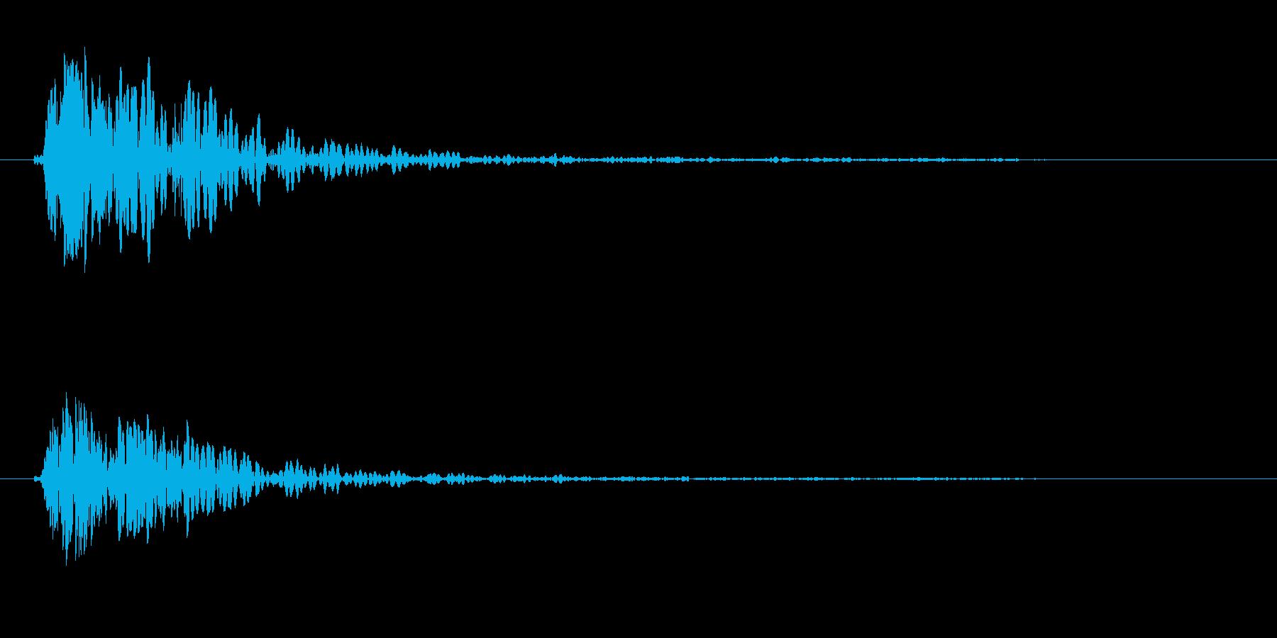 ドン(叩く音色)強めの再生済みの波形