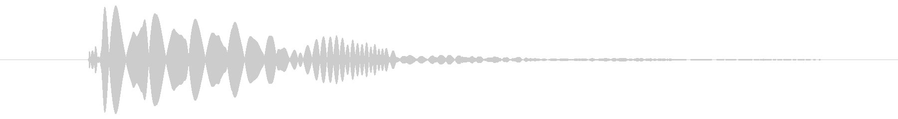 【モンスター】大きいスライムの未再生の波形