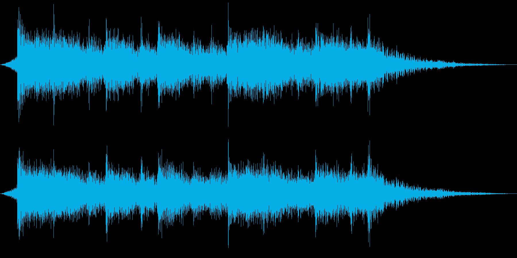 ジングル・ミッション終了時のシネマロックの再生済みの波形
