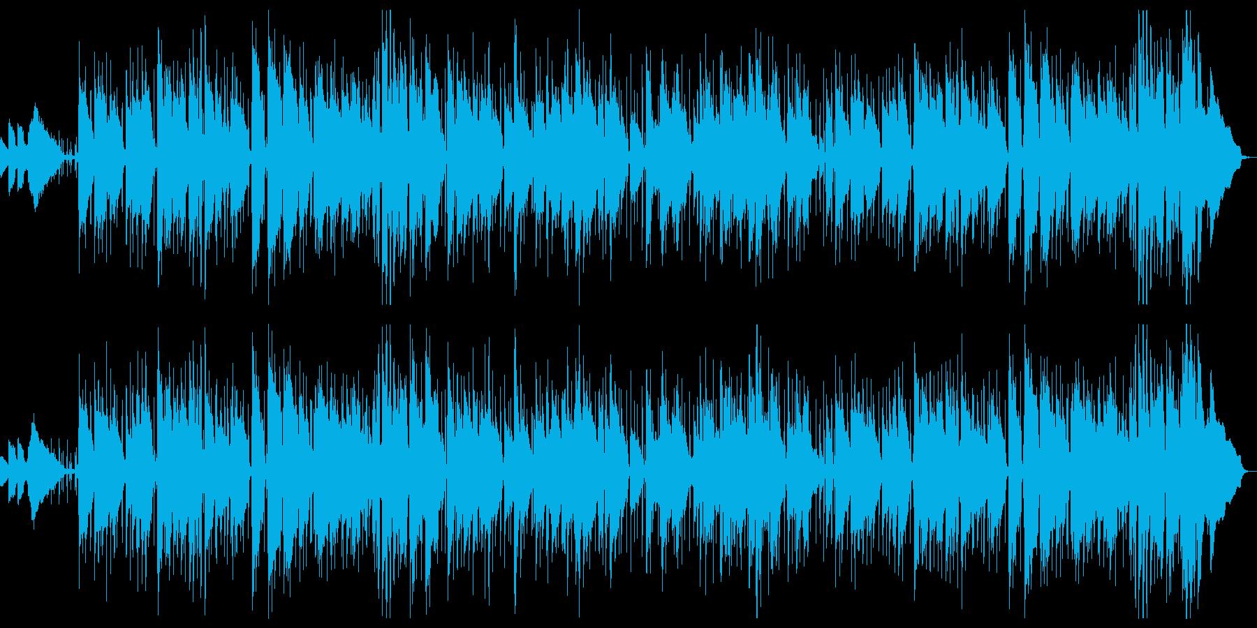親密なジャズソングの再生済みの波形