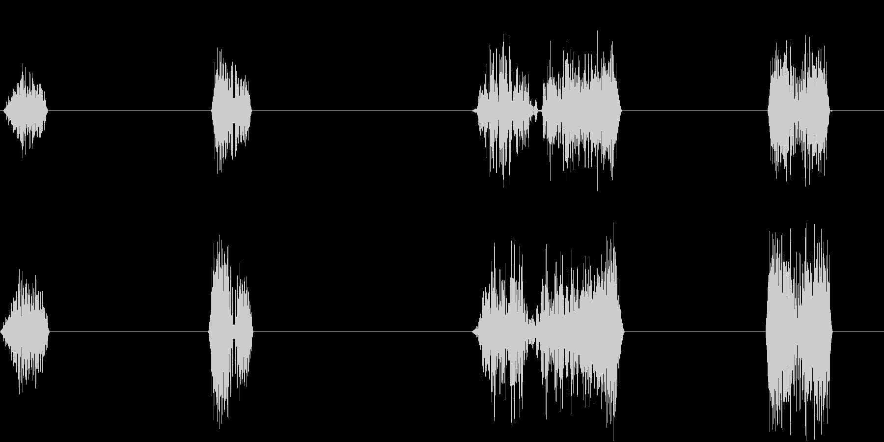DJプレイ スクラッチ・ノイズ 12 伸の未再生の波形