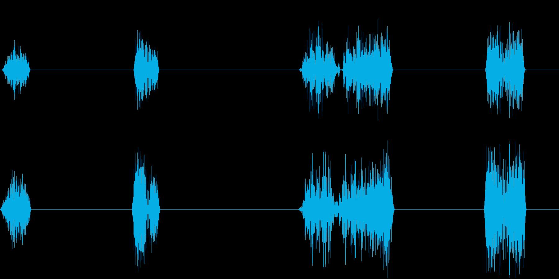 DJプレイ スクラッチ・ノイズ 12 伸の再生済みの波形