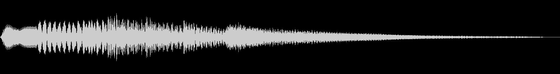 和風の場面転換音(琴/ハープの音色)低音の未再生の波形
