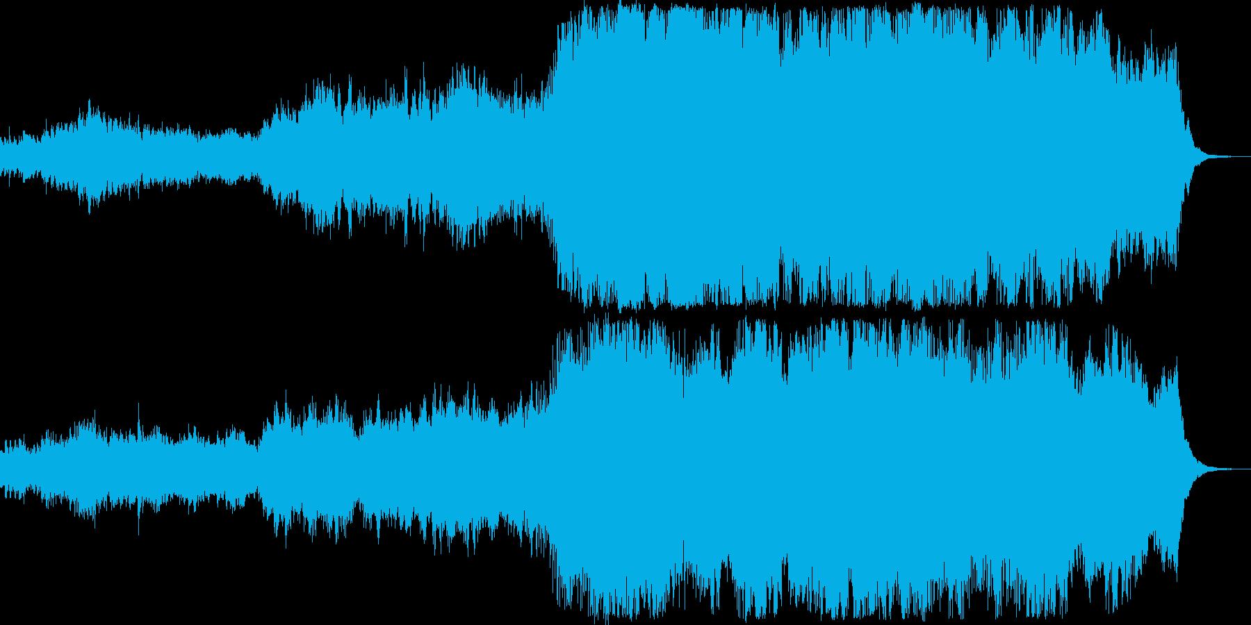 オープニング風オーケストラ作品の再生済みの波形