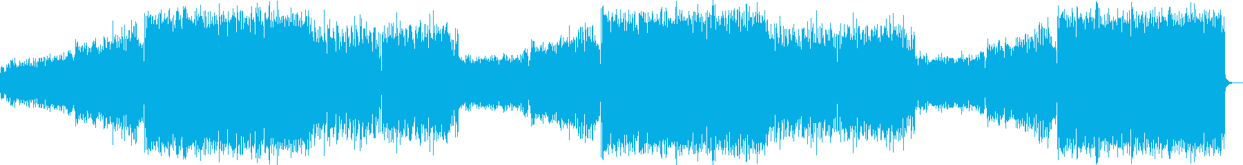 激しいエキサイティング入場バトルEDMの再生済みの波形