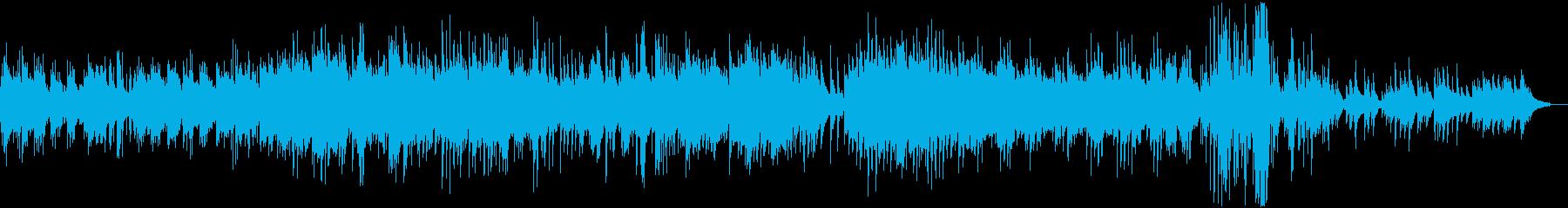 ピアノの非常に長い曲で、明るく、や...の再生済みの波形