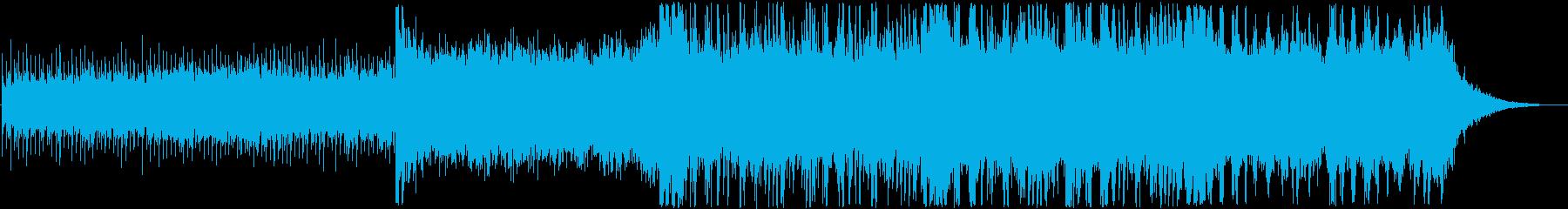 神秘的なテクスチャーアンビエントの再生済みの波形