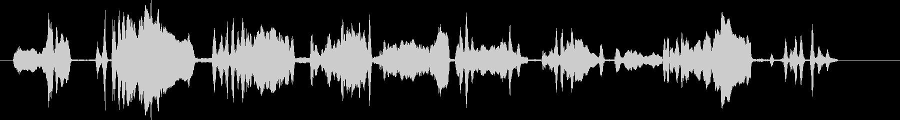 コヨーテハウル。バックグラウンドで...の未再生の波形