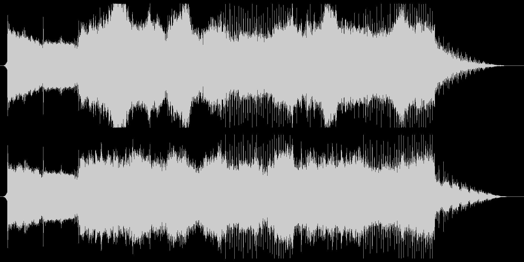 幻想的で優しいピアノのスローなチルアウトの未再生の波形