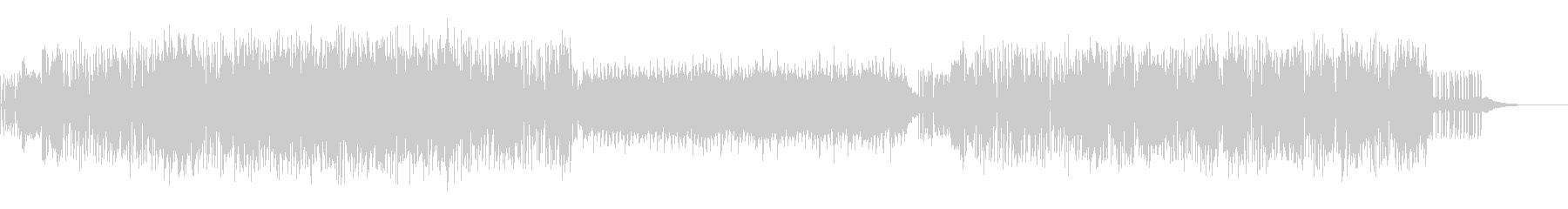 ダークかつリズム感のあるエレクトロニカの未再生の波形