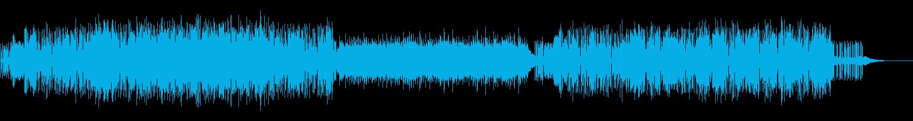 ダークかつリズム感のあるエレクトロニカの再生済みの波形