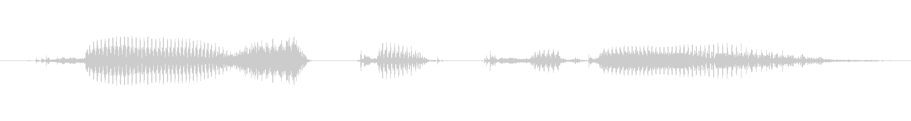クエストクリア!の未再生の波形