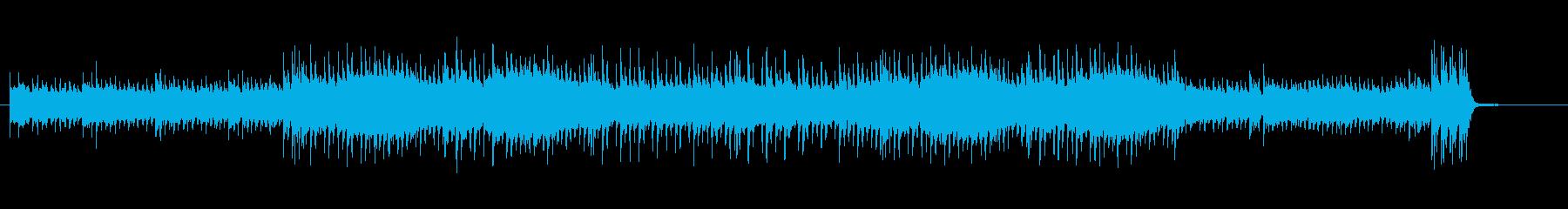 シリアスなイントロのポップ・ロック風の再生済みの波形