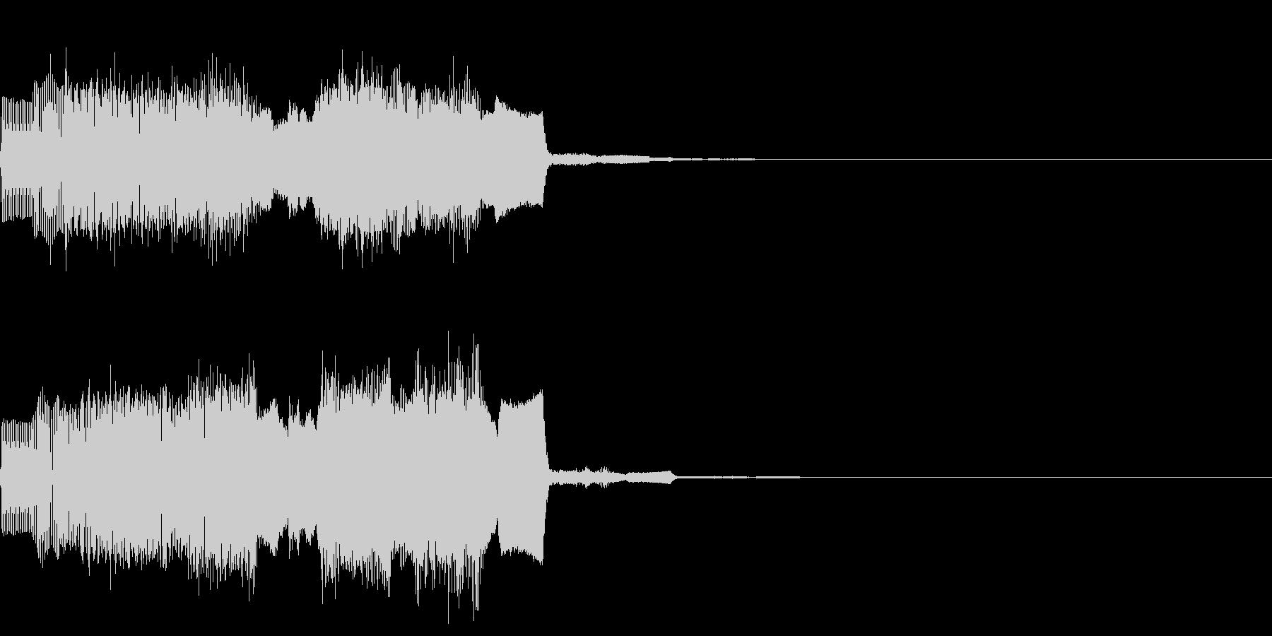 ファミコン風なパワーアップ時の効果音の未再生の波形