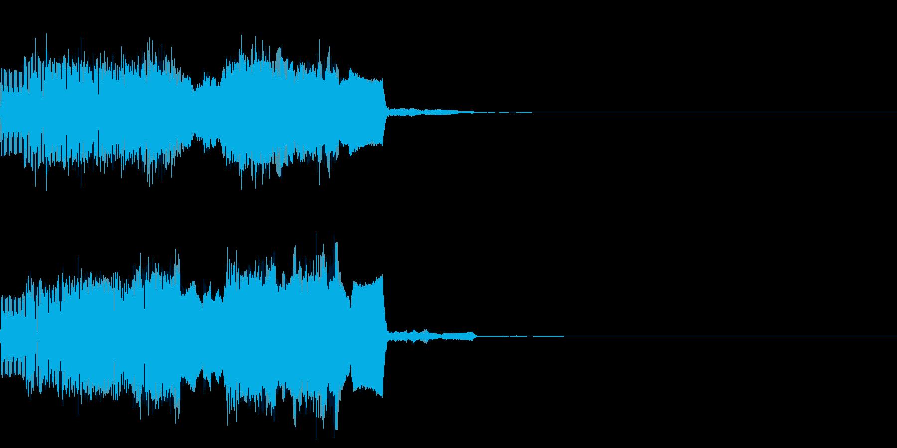 ファミコン風なパワーアップ時の効果音の再生済みの波形