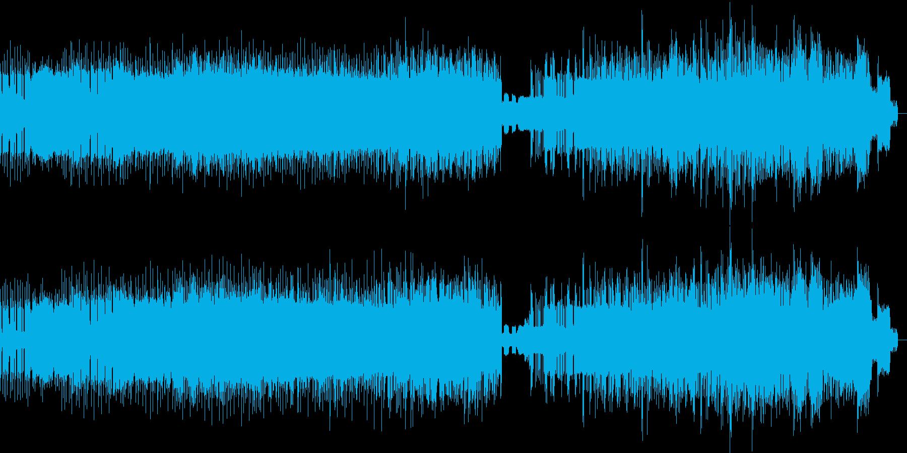 ビート感のあるノイズの再生済みの波形