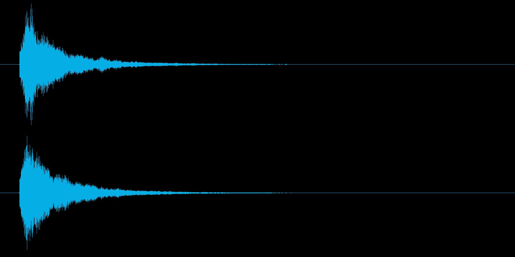 回復魔法の効果音1の再生済みの波形