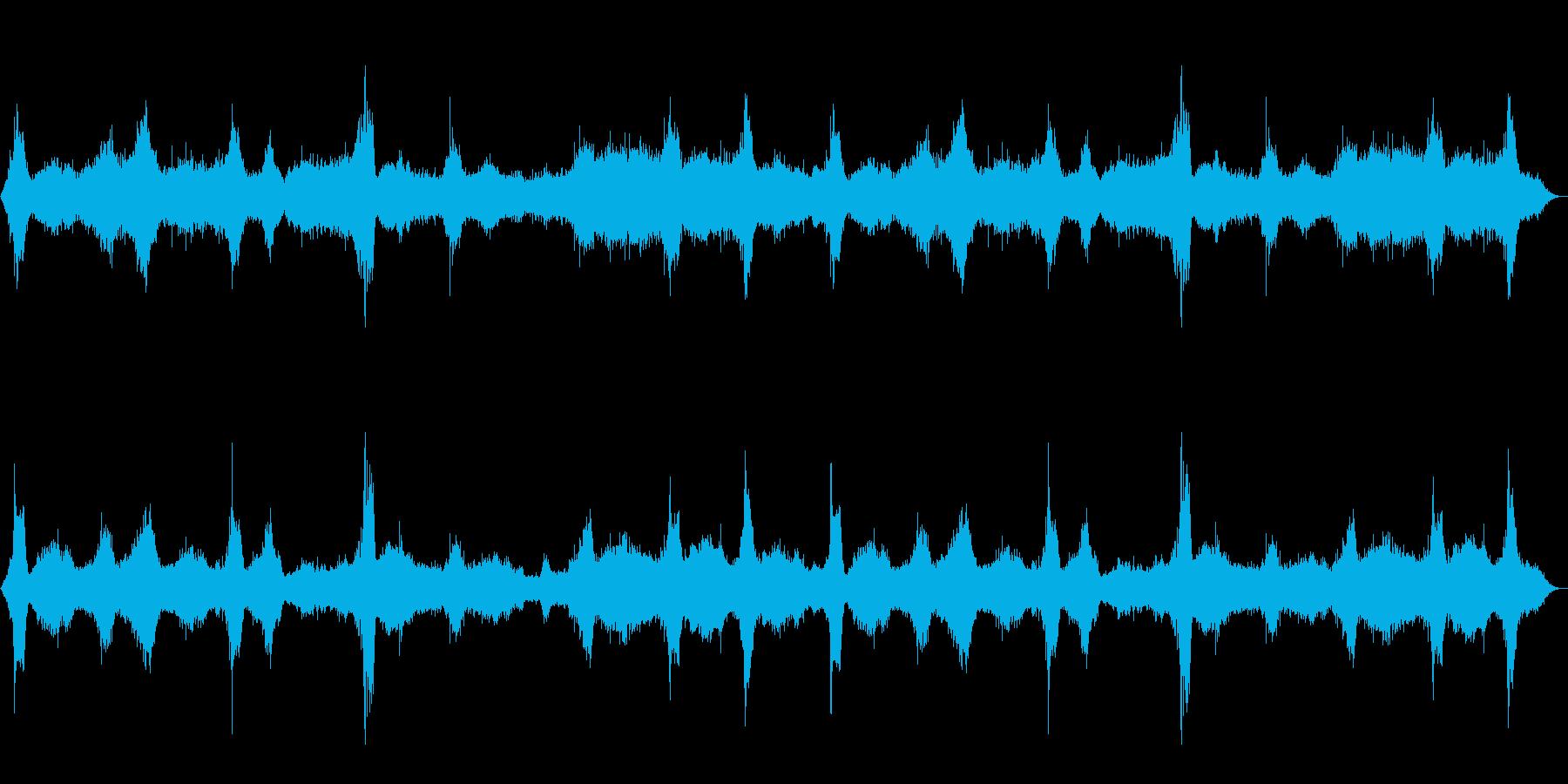 [生録音]海、波の音02(砂利浜)の再生済みの波形