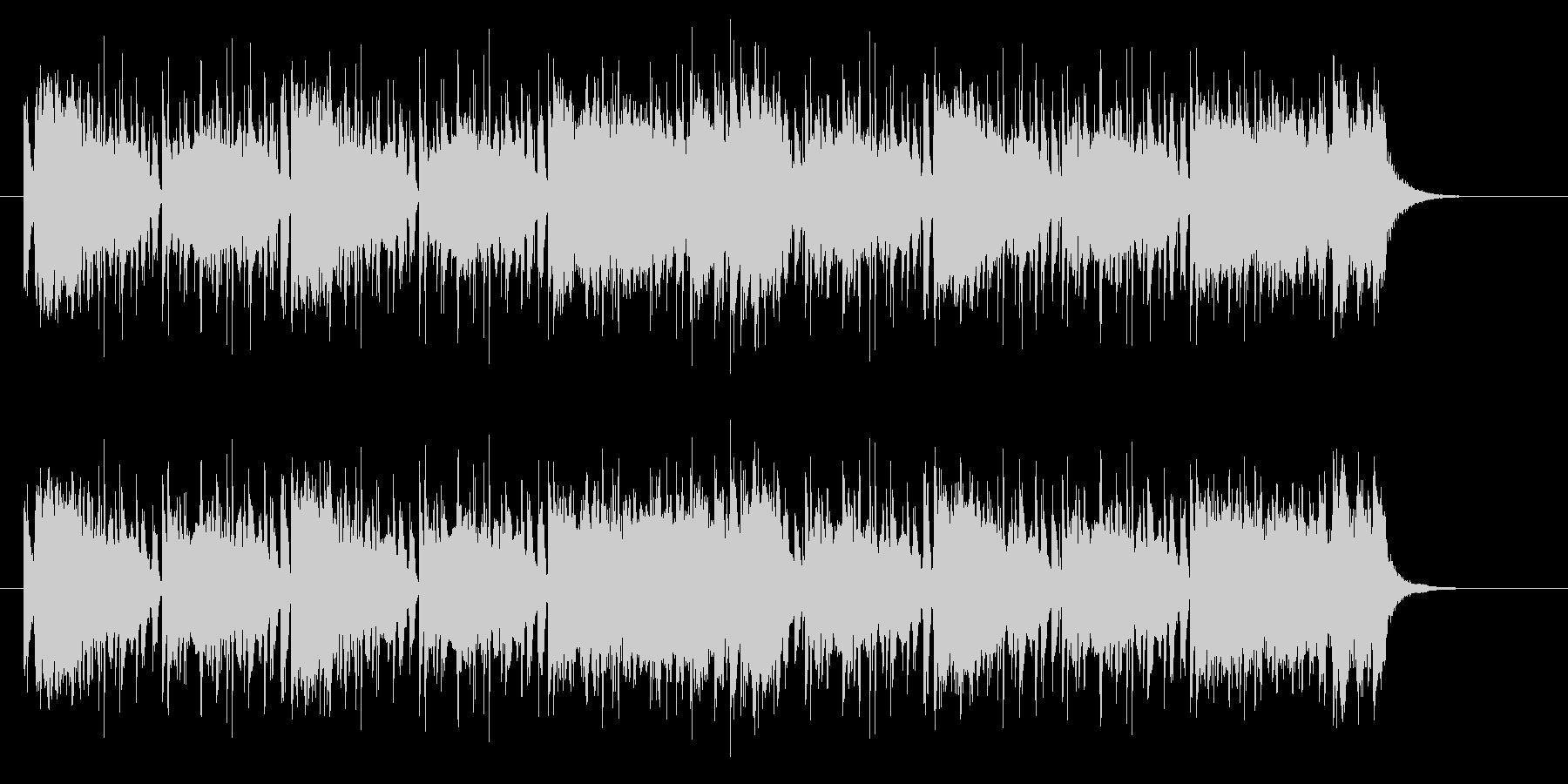 シンセサイザーのカッコいいポップスの未再生の波形