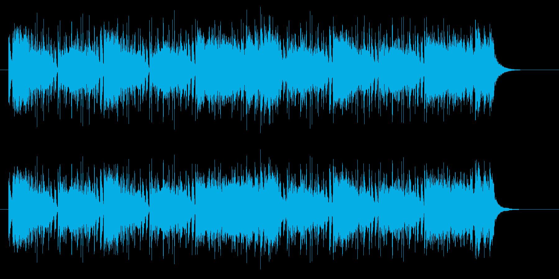 シンセサイザーのカッコいいポップスの再生済みの波形