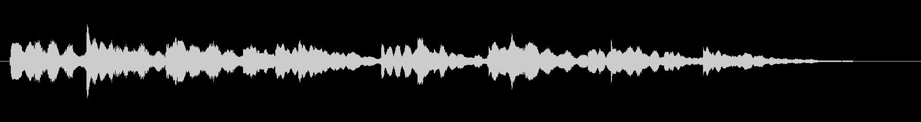 オルゴールのような電子ピアノ曲の未再生の波形