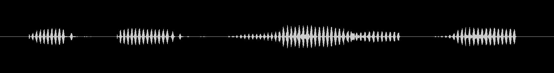 コオロギの連続的な鳴き声の未再生の波形