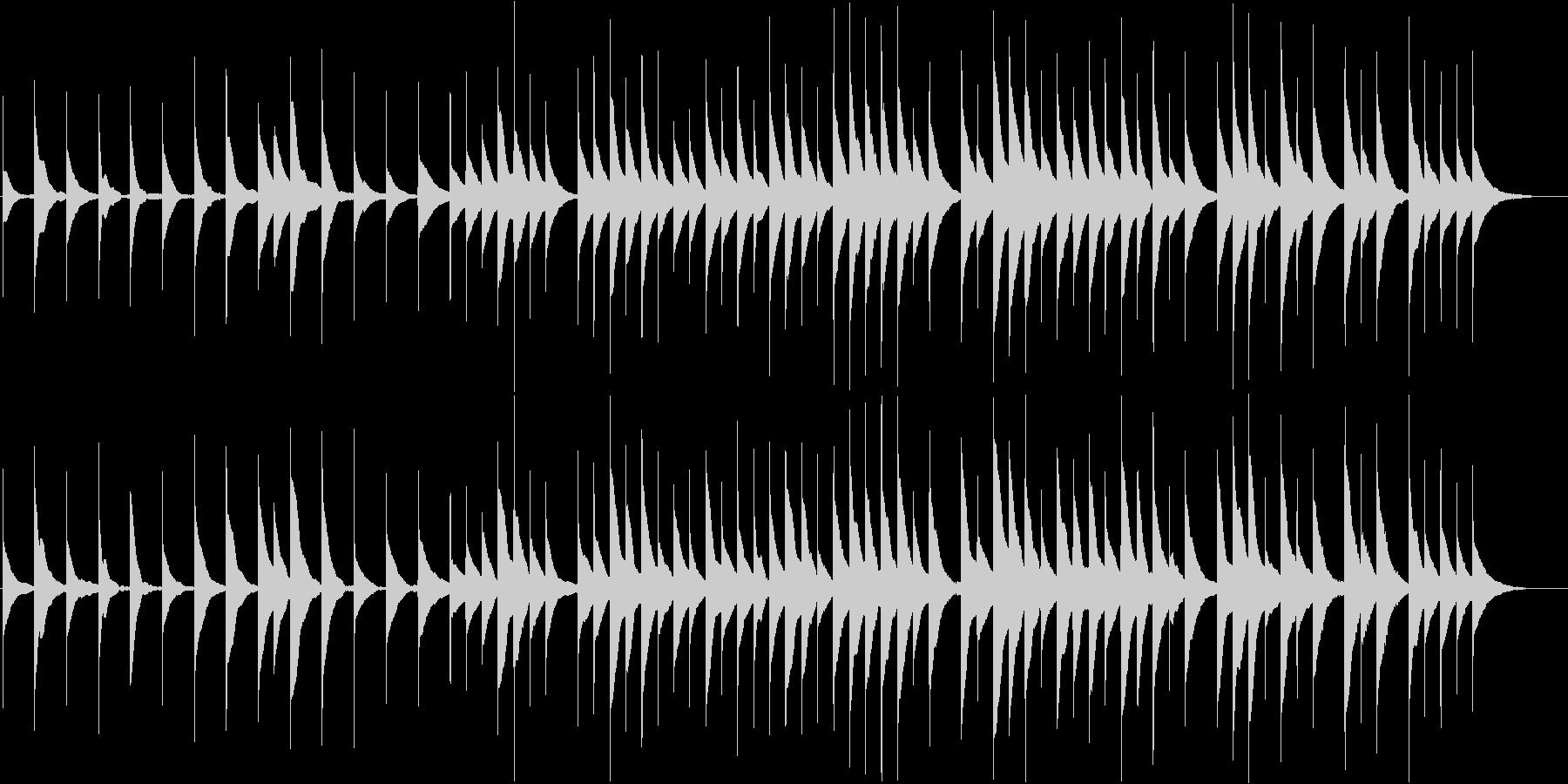 ゆったりとした優しいオルゴールBGMの未再生の波形